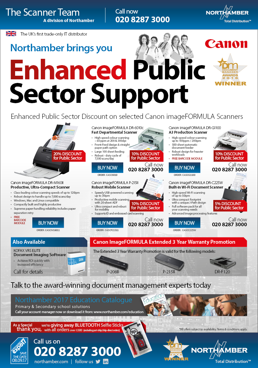 Public Sector discounts still available on Canon - call us today!