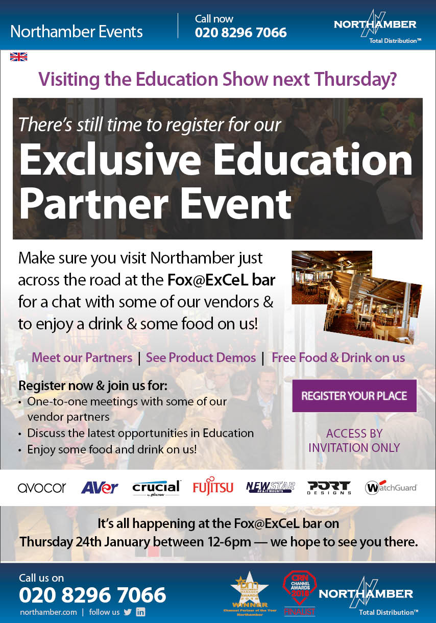 Join us next Thursday at the Fox@ExCeL bar for a chat and a drink with our vendors