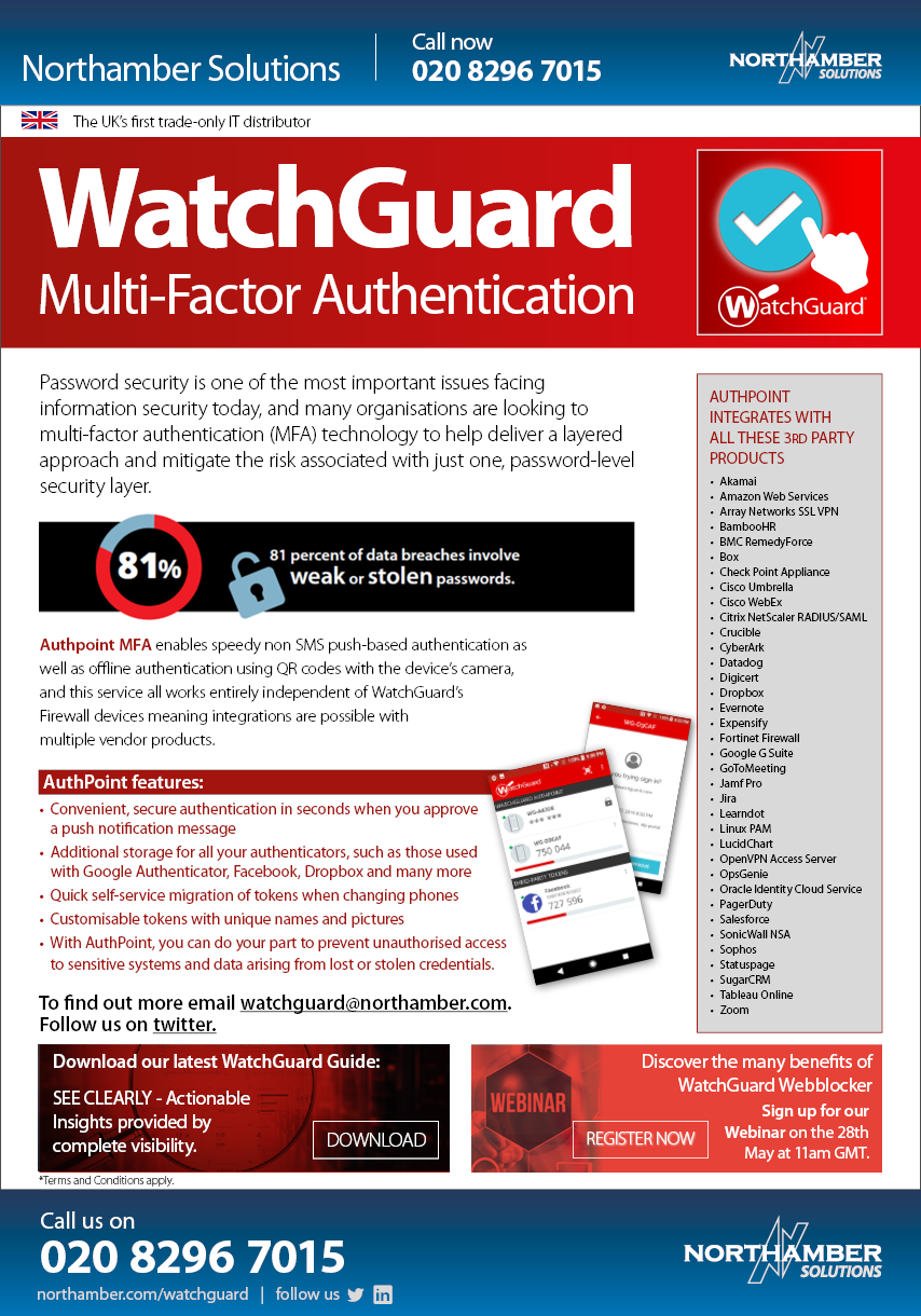 AuthPoint from WatchGuard- the new way to authenticate from your phone!