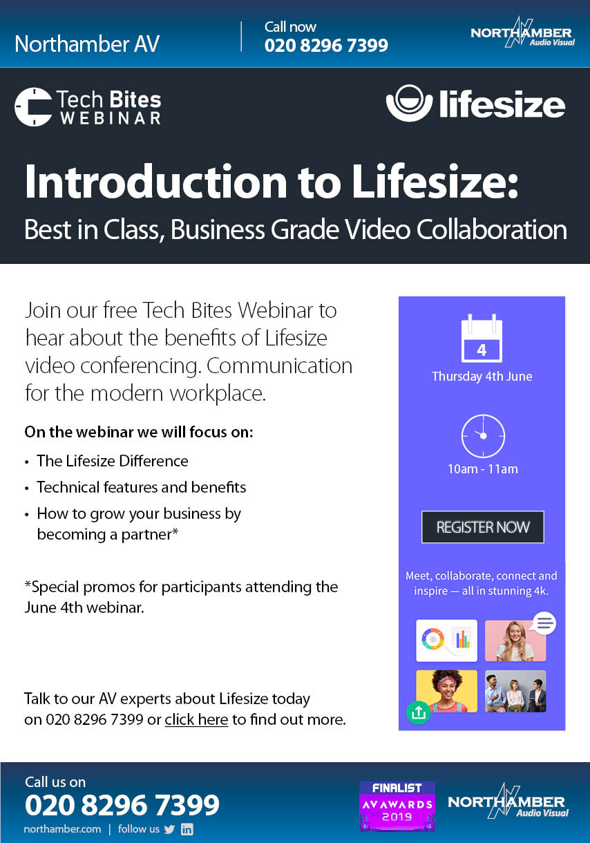 Join our Webinar on 4th June & learn more about the future of collaboration with Lifesize