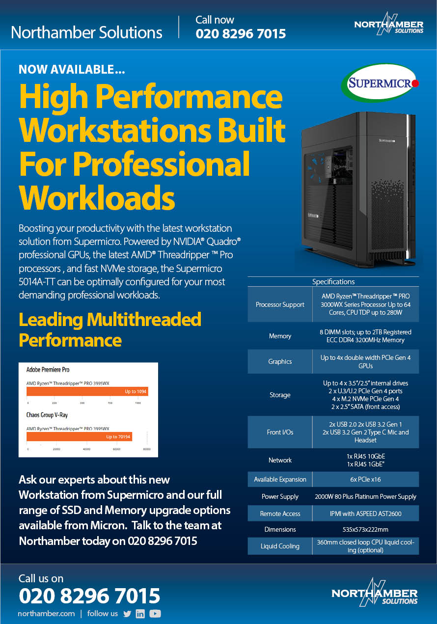 Boosting your productivity with the latest workstation solutions from Supermicro.